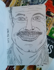 (Evil) Dr. Phil. 3B pencil.