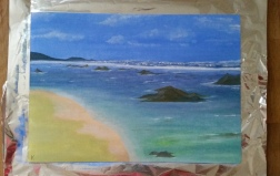 First try on a seascape.
