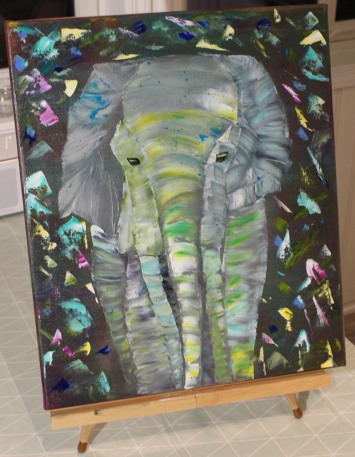 Palette Knife Elephant