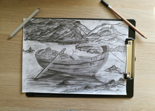 A dinghy on the lake