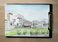 The hospital in town