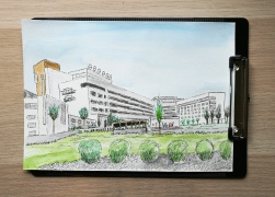 Drawing of the hospital in the town where I live