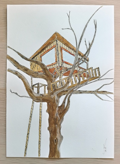 A treehouse in Vietnam