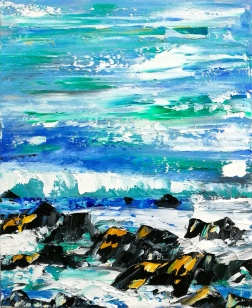 A stormy shore
