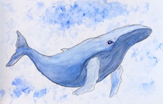 Watercolor whale