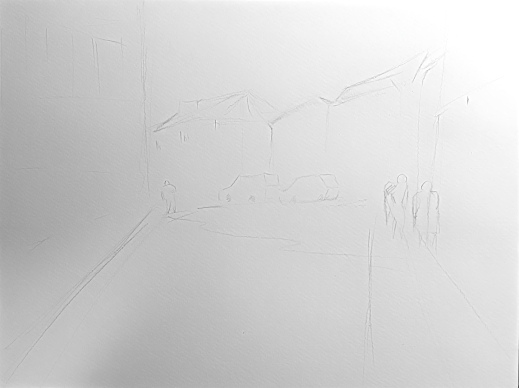 The outline sketch